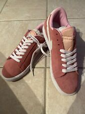 Nike Dusky Pink Suede Laceup Sportshoes Size 8 - 8.5