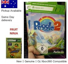 xbox 360 one game : Peggle 2 Full Game Download Card with Fruit Ninja