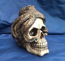 Steampunk Skull with Octopus New Boxed Ornament Gothic Skeleton