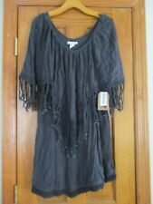 Womens Billabong Fringe Dress Size med charcoal
