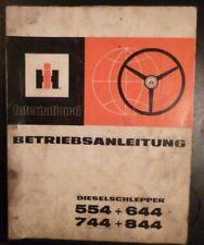 IHC Schlepper 554 + 644 + 744 + 844 Betriebsanleitung