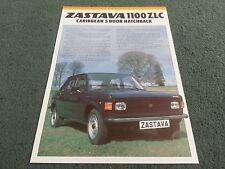 1981 1982 ZASTAVA Yugo 1100 ZLC CARIBBEAN 5 DOOR - UK COLOUR LEAFLET BROCHURE