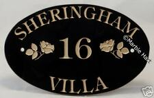 "GRANITE House Sign Oval Signs address plaques 18"" x 12"""