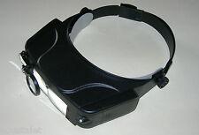 Casque Loupe avec LED, 3 optiques et miroir pour observer le dos de l'objet