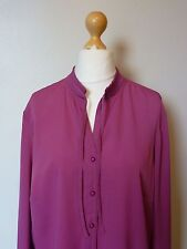 La Maison du Jersey Pleated Tie Collar Blouse Shirt Top Size 18 BNWT Raspberry