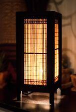 """Asiatico Stile Vintage Comodino Lampada: """"mai PAI namtan 'BAMBOO con filo marrone"""