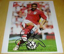 AARON Lennon Inghilterra Everton personalmente a mano firmato 10x8 Autograph Foto calcio