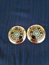HARLEY DAVIDSON TANK EMBLEMS OEM BADGES MEDALLION ROUND EMBLEMS