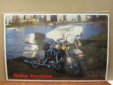 Vintage Poster Harley-Davidson motorcycle car garage man cave 4901