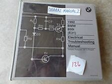 1992 BMW 850i (E31) Elecrical Troubleshooting Service Manual OEM
