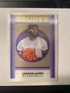 2019 Goodwin Champs LEBRON JAMES Goudey Insert GL1 Short Print SP