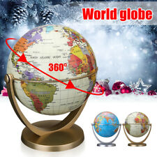 Rotating World Globe Stand Earth Blue Map Ocean Kids Child Toys Educational AU
