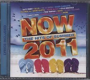 Now: The Hits of Summer 2011  Various Artists CD EMI Australia 2010 Rock Pop
