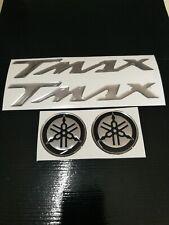 kit adesivi yamaha tmax 530 500 argento-cromo+diapason in resina gel 3D new