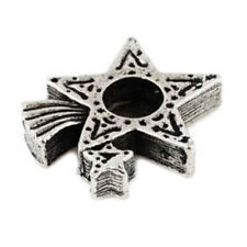 """NEW Shooting Star Chime Spell Candle Holder Pewter for 4"""" Mini Taper Candles"""