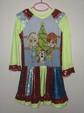 Disney Custom Boutique Frozen Princess Elsa Anna Olaf Xmas Christmas Dress