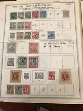 Old Barbados MH/U British Colony Stamps- Lot A-66868