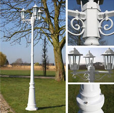 Garden Street Lampost Triple Head Outdoor Lamp Pathway Driveway Patio Lamps  NEW