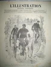 2274 CYCLE VELOCIPEDISTE MILITAIRE CHEMINOT TRAIN AIGUILLEUR L'ILLUSTRATION 1886