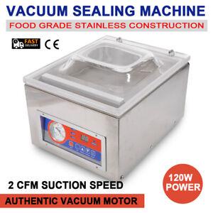 Digital Vacuum Packing Sealing Machine Sealer 120W Packaging Industrial Chamber
