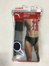 Puma Mens XL Extra Large Classic Brief Underwear 5 Pack Red Black Gray
