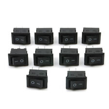 10Ps Pro SPST ON/OFF Switch Mini Black 2 Pin Rocker Switch DC 12V 16A Tool Kits