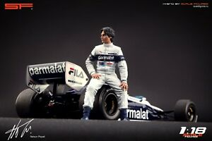 1:18 Nelson Piquet figurine by SF VERY RARE !!! NO CARS !! for Brabham F1 cars