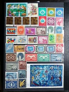 COLLECTION OF UNITED NATIONS UN STAMPS