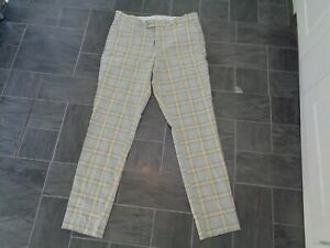 mens smart checked trousers-from boohoo man size 34R