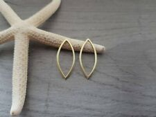 Brass Marquise Connector | Earring Components | 2 Pieces
