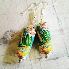 Unique LILT EARRINGS handmade SODA retro PINEAPPLE miniature CANS drink TROPICAL