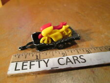 MAJOETTE YELLOW&RED MOTORCYCLE BLACK TRAILER SCALE 1/64 - MADE IN FRANCE(21780)