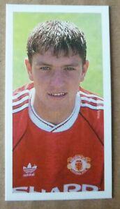 MANCHESTER UNITED LEE SHARPE ROOKIE BARRATT FOOTBALL CARD 1992