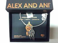 Alex and Ani Dreamcatcher Bangle Bracelet Rafaelian Silver NWTBC