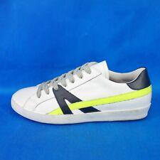 Meline italienische Herren Schuhe Low Sneaker Sportschuhe Leder Weiß Np 139 Neu