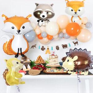 1Pcs Cartoon Woodland Animal Foil Balloon Baby Kids Birthday Party Decoration .