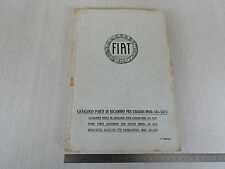 CATALOGO PARTI DI RICAMBIO ORIGINALE 1930 CHASSIS FIAT 521 521C