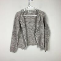 COCOGIO Size S Long Sleeve Knit Cardigan Made in Italy Wool Alpaca Blend