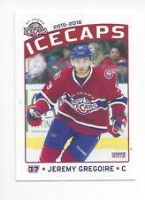 2015-16 St. John's IceCaps (AHL) Jeremy Gregoire (Milwaukee Admirals)