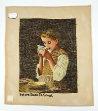 Lindhorst Tapisserie Needlepoint Before Going to School by Albert Anker Tapestry