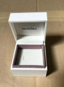 Genuine PANDORA Ring Box, gift box, charm, earrings, ring - CREAM - 5x5x4cm