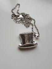 Alice Paese Delle Meraviglie Cappellaio Matto in questo stile 10/6 charm ciondolo collana d'argento