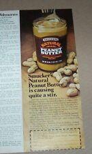 1980 print ad -Smucker's natural Peanut Butter Orrville Ohio vintage advertising