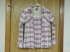 Arizona Pretty Plaid Button Down Blouse - Girls Large 14 - Excellent!!!