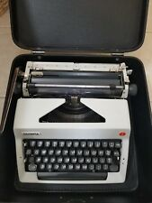 Vintage 1971 Olympia SM9 Deluxe Portable Typewriter & Black Case Germany GREAT!