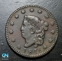 1816 Coronet Head Large Cent   --  MAKE US AN OFFER!  #B3638
