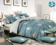 4 tlg. Bettwäsche Bettbezug Bettgarnitur 155 x 200 cm Grün - dunkelgrün Sterne