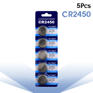 5pcs/pack CR2450 Button Batteries KCR2450 5029LC LM2450 Cell Coin Lithium
