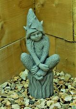 Pixie Fairy Garden Ornament Decor Gargoyle Sculpture Stone Statue Decorative