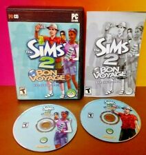 Sims 2 Bon Voyage Pack - PC Computer Game Disc, Case, w/ Key Code on Manual -
